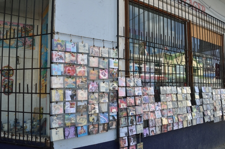 st lucia: CASTRIES ST LUCIA CARIBBEAN 19  January  2015: Large CD shop with regaee cds Editorial