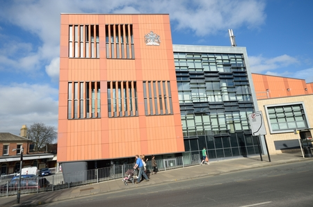 COLCHESTER ESSEX ENGLAND 8 March 2015: New Colchester  Magistrates court building