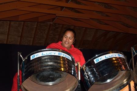 st lucia: ST LUCIA CARIBBEAN 27 January  2015: Carribean steel band Editorial