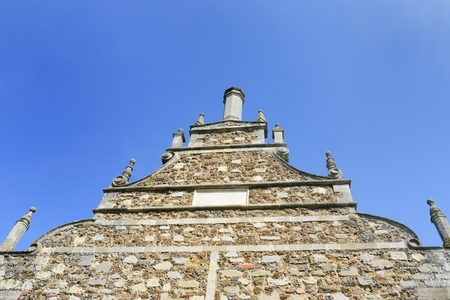 bourne: Looking up at Elizabethan gable