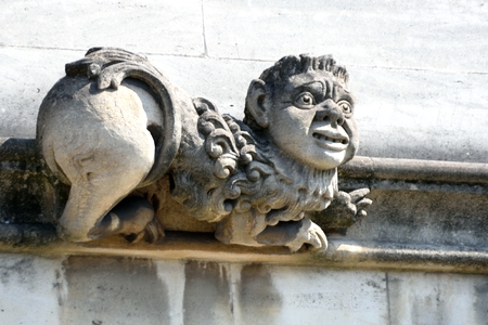 grotesque: Stone gargoyle with funny face