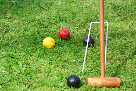 Equipment for playing croquet photo