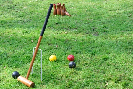 Croquet Equipment and outdoor  skittles photo