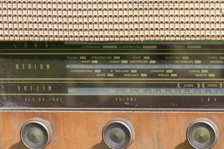 shortwave: Detail of vintage radio
