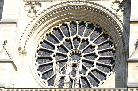 gothic window: round gothic window notre dame paris