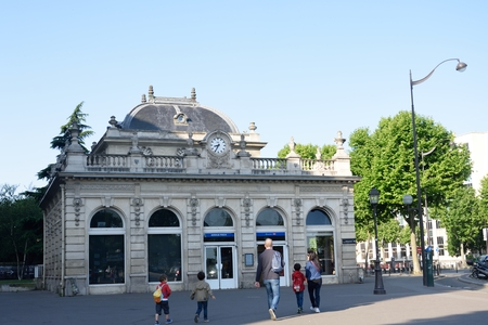 france station: PARIS FRANCE 7 JUNE  2015: Suburban RER Station