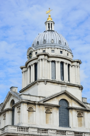 greenwich: Greenwich Naval College Dome Editorial