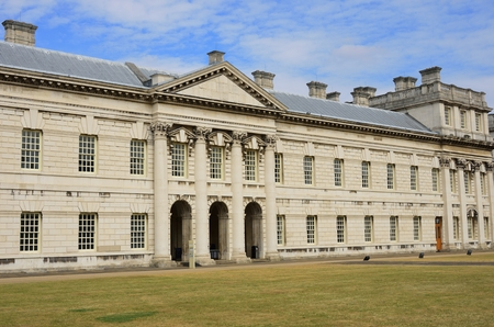 greenwich: Side view of Greenwich College Editorial
