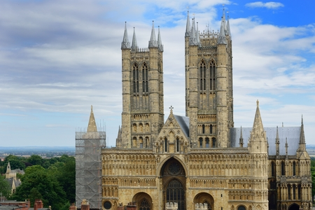 lincoln: Lincoln Cathedral from castle walls