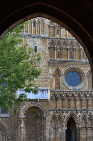 archway: Detail of Lincoln Cathedral through archway