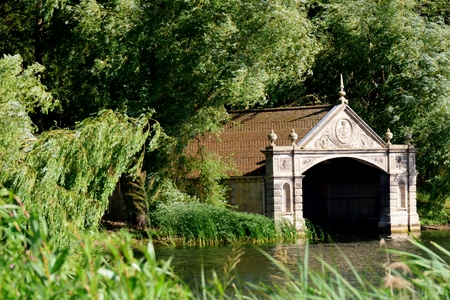 boathouse: Boathouse in country estate