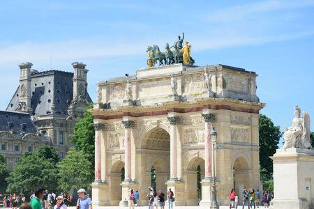 austerlitz: PARIS FRANCE 7 JUNE  2015: Arc de Triomphe Carrousel