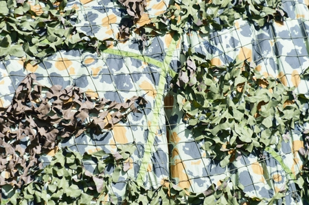 netting: camouflage netting Stock Photo