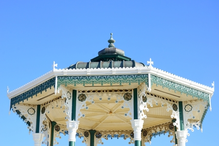 bandstand: Roof of Bandstand brighton UK Stock Photo