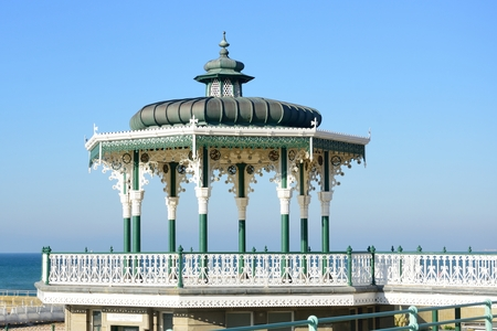 bandstand: Brighton and Hove Bandstand by sea
