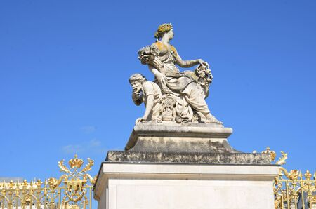versailles: Grand Statue of woman  at Versailles