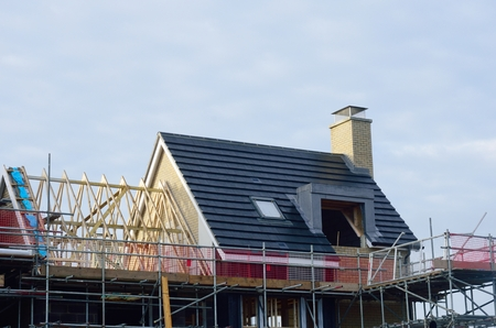 roof framework: New Houses under construction