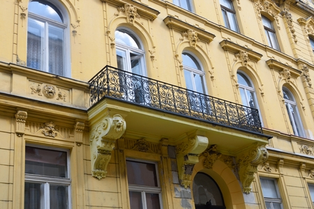 nineteenth: Typical nineteenth century european urban  apartments Stock Photo