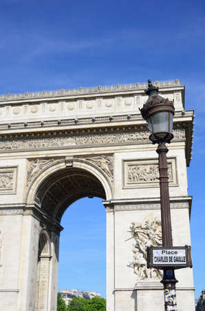 du: Arc du Triomphe at Charles de Galle Place Paris
