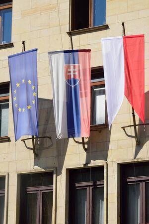 slovak: Euro and Slovak Flags