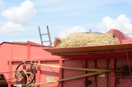 threshing: Top of old Threshing Machine Stock Photo