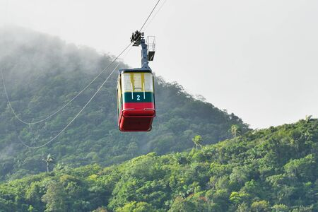 Cable car cabin at Puerto Plata Dominican Republic