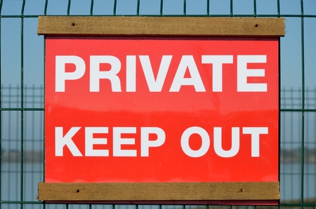 keep out: Private keep out sign Stock Photo