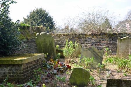 tombstones: Old tombstones in corner of Graveyard
