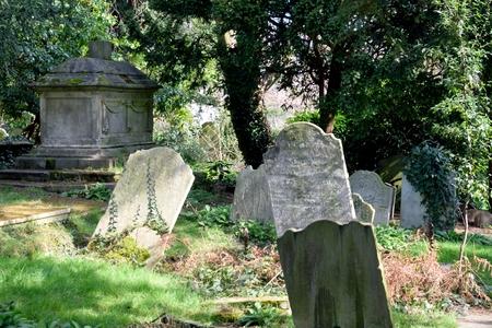 tombstones: Tombstones in ancient English graveyard
