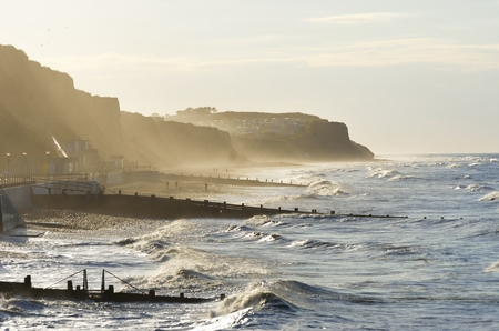 rough sea: Rough sea at Cromer Stock Photo
