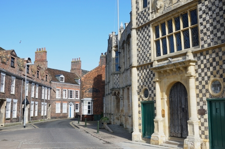 old town guildhall: Guildhall Kings Lynn with street view