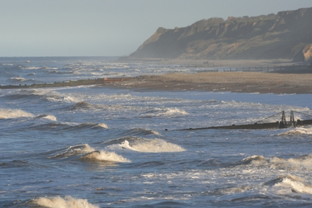 rough sea: Rough sea on Norfolk Coast