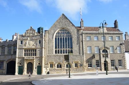 Front view of Kings Lynn Guildhall Norfolk 免版税图像