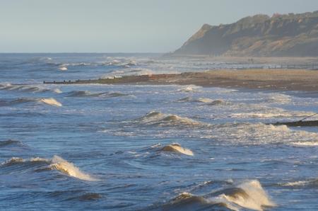 rough sea: Rough sea in Norfolk