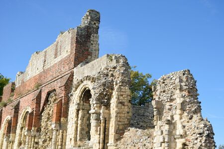abbey ruins abbey: Ruins of St Augstines abbey Canterbury UK