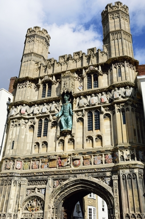 Entrance to Canterbury Cathedral Kent Stock Photo