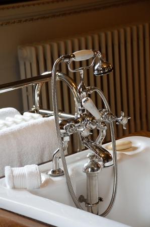 chrome: Antique Chrome bath tap  set up