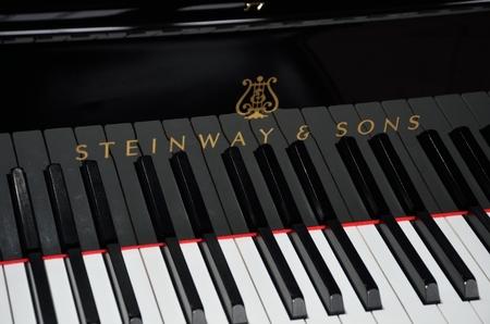 Norfolk  , United Kingdom - October 24, 2016: Keys of Steinway Grand Piano