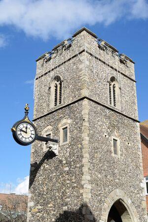 numeros romanos: Clock Tower in Canterbury Kent