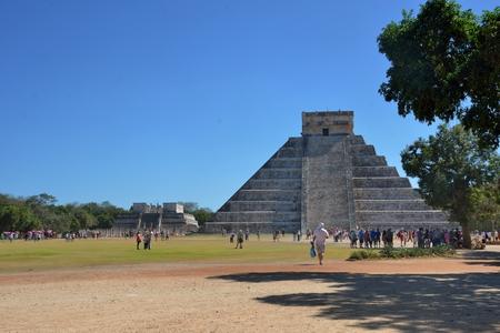 mayan culture: Chichen Itza  , Mexico - January  25, 2017:  Temple at Chicen Itza Mexico Editorial