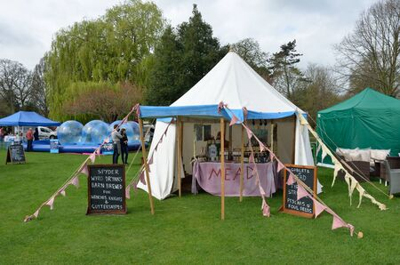 Colchester United Kingdom -1 April  2017:  Traditional mead tent at country fair Editorial