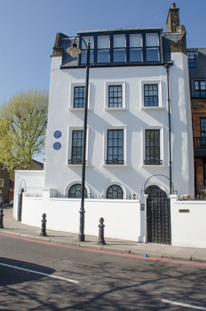 Chelsea London United Kingdom - 8 April 2017: Residence of Hilaire Belloc noted literary figure