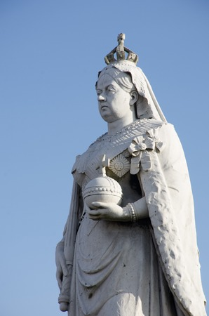 Detail of Stone Statue of Queen Victoria