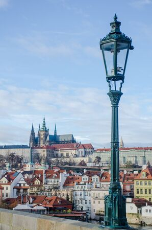 St Vitus Cathedral viewed from Charles Bridge Prague