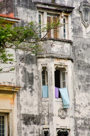 Dilapidated spanish style building central Havana