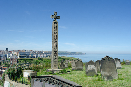 Whitby Yorkshire UK  - 25 June 2018: View of Whitby  from Church of St Marys