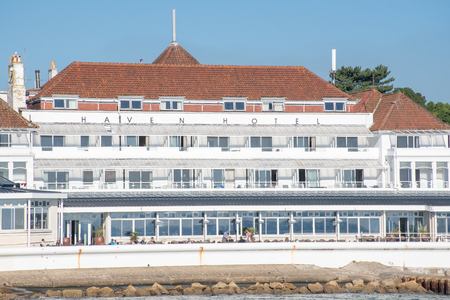 Poole Dorset UK - 20 October 2018: Haven luxury hotel Sandbanks Dorset