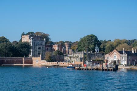 Poole Dorset UK - 20 October 2018:  Brownsea Island Castle used by John Lewis Partnership