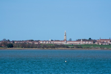 View across estruary of Royal Hospital School Shotley Suffolk UK