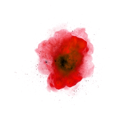 atomic bomb: Abstract, red explosion of fire against white background *** Local Caption *** Abstract, red explosion of fire against white background